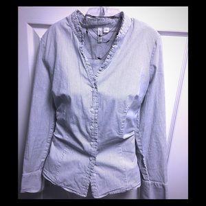 St Johns Bay ruffle collar blouse